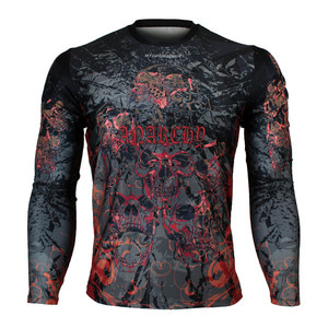 ANARCHY [FR-148] Full graphic Loose-fit Long sleeve Crew neck shirt