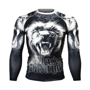 BLACK PANTHER [FX-167] FULL GRAPHIC COMPRESSION LONG SLEEVE RASH GUARD