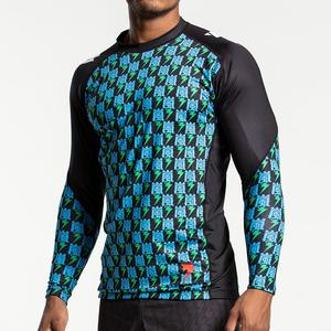 스톰 래쉬가드 -Storm 'Edo Era' Long Sleeve Rash Guard - Black Green