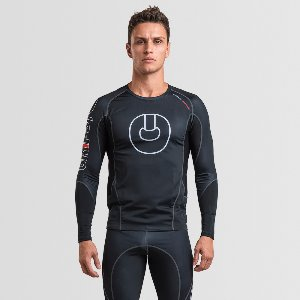 MEN'S ARMADURA 2.0 RASH GUARD LEGACY BLACK LONG SLEEVES